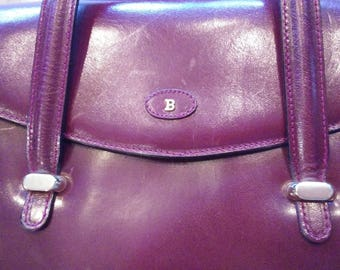 BALLY Burgundy Vintage Leather Purse Made in Italy