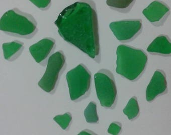 Genuine SEA GLASS Natural Surf Tumbled Caribbean Hand Picked One of a kind Pieces