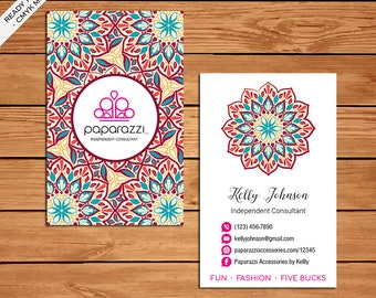 Paparazzi Business Card, Custom Paparazzi Accessories Business Card, Fast Free Personalization, Printable Business Card PZ07