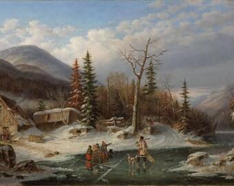 Vintage Landscape (1862), Landscape print, Print on canvas, Fine Art Print, Wall Décor, Home décor, Office décor, Large Print, Gift