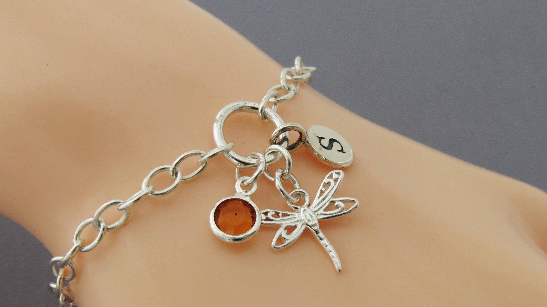 Silver Dragonfly Bracelet, Dragonfly Bracelet,Silver Dragonfly ...