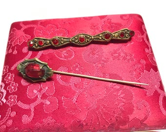 Antique Pin and Tie Tack Set