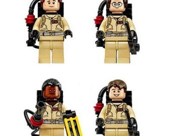 Ghostbusters Team - Ray, Egon,Winston & Peter In Custom Lego Inspired Form