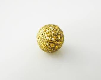 1 x round gold tone 9mm (l269)