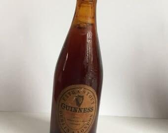 Guinness / Stout, Memorabilia. Miniature Bottle 1950's vintage size 90 x 20mm