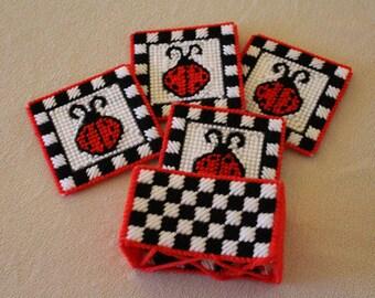 Ladybug coaster set