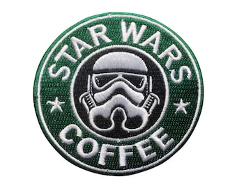 Star Wars Patch Star Wars Coffee Patch Imperial Stormtrooper Iron on Patch Sew On Patches back patch