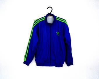 BIG SALE 90s Adidas Windbreaker Vintage Retro Jacket Sportswear Activewear track jacket Size S-M