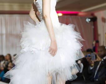 Asymmetrical dress model Christina