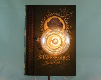 "Book lamp ""Shakespeare's masterpieces I"""