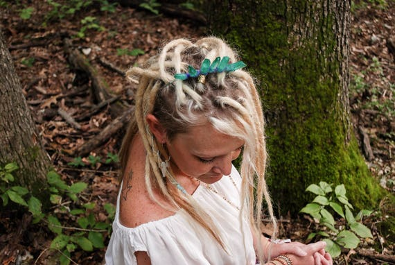 The Forest Princess, Silver and Green Quartz Crystal crown