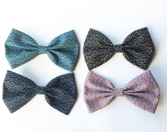 Hair bow with Japanese fabric