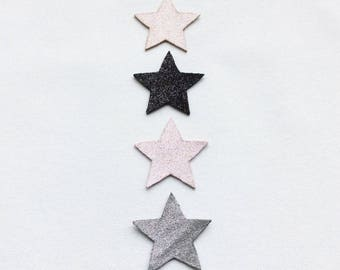 Star Spangled leather brooch