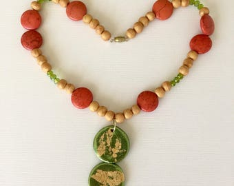 Vintage Green Chunky Necklace