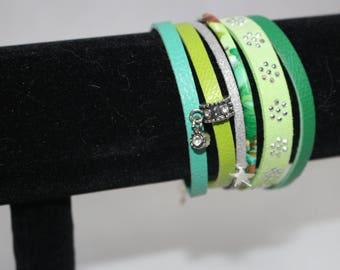Green Cuff Bracelet for women