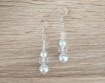 Swarovski Crystal and white earrings