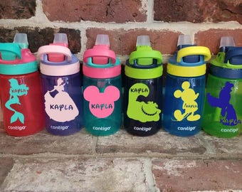 Personalized 14 oz. Kids Water Bottle, Magical, Child's Spill Proof Cup, Contigo