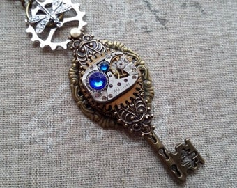 Steampunk with a key pendant necklace