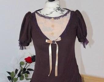T-shirt T-shirt sleeve short Victorian steampunk