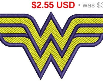 Sale 15% Wonder woman logo embroidery design / embroidery designs / INSTANT download machine embroidery pattern