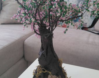 12 Beaded bonsai tree handmade gift, home decor