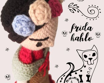 Frida Kahlo inspired by Amour Fou Crochet / Crochet Doll