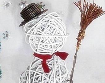 Snowman in white wire