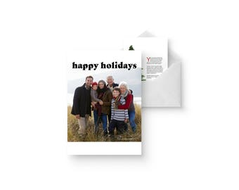 simple photo holiday photo card