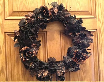 Black and Gold Wreath