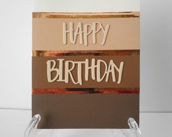 Handmade Greeting Card - Happy Birthday