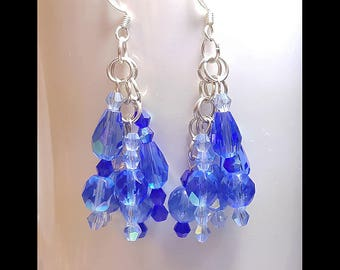 Something Blue Victorian Inspired Bridal Wedding Earrings