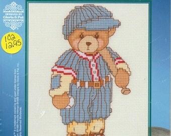 Cherished Teddies Baseball Player Sports Series I Counted Cross Stitch Kit