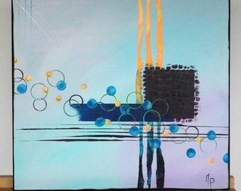 Canvas modern cool tones