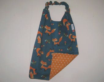 Sleeves with elastic foxes on teal background pattern napkin