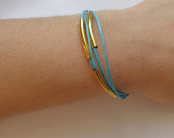 Blue and gold or blue and gold bracelet