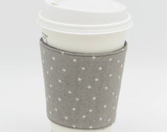Reusable Reversible Fabric Coffee Cup Cosy Sleeve | Cup Cosy | Cup Sleeve | Fabric Cup Holder | Coffee Cup Cosy | Coffee Cup Sleeve