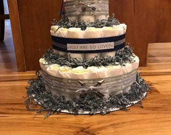 CUSTOM 3 Tier Diaper Cake