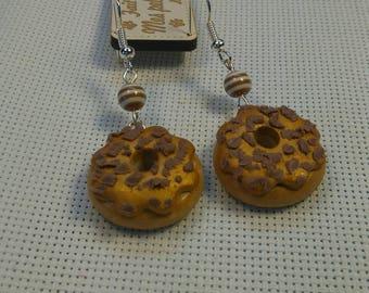 Pair of delicious doughnut polymer clay