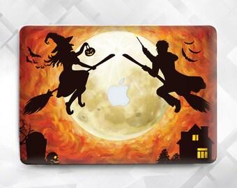 Halloween Harry Potter MacBook, Macbook case Harry Potter, Witch and Harry Potter Laptop Case, Macbook Air 11 13, Pro 13 15, Macbook 12,