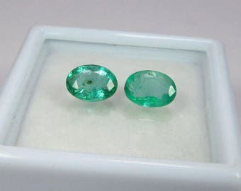 1.17 cts natural Emerald with IGI certificate pair