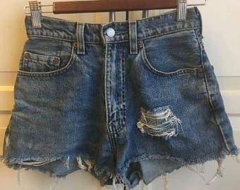 Vintage Levi Women's Shorts Distressed