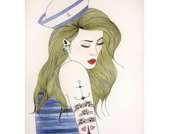 Love Deep Like The Sea / Illustration