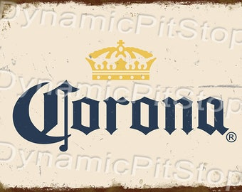 30x40cm Corona Rustic Tin Sign