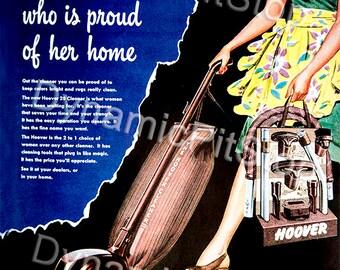 30x40cm Hoover Vacuum Cleaner Vintage Advert Tin Sign