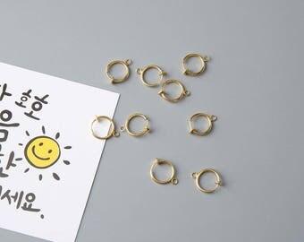 1pair of Brass ear clip10 mm,earring findings