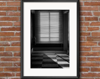 Light and Lines - print of sunlight coming through a window creating clean shadows