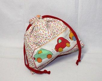 Snack bag / blanket pattern bag cars