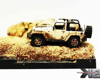 1:64 Scale Mountain Truck Diorama