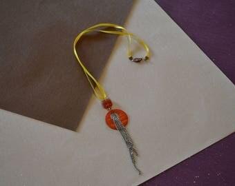 Long necklace mi yellow and orange!