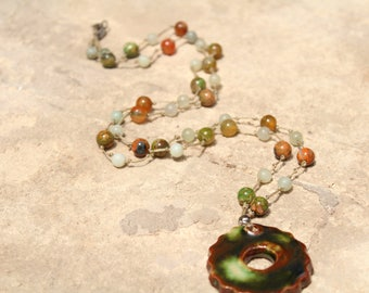 necklace, true beads, ceramic. jade beads,jewel,gift,accessories